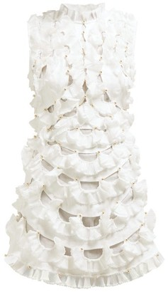 Zimmermann Zippy Fan-frilled Mini Dress - Ivory