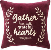 JCP HOME JCPenney HomeTM Gather with Grateful Hearts Decorative Pillow