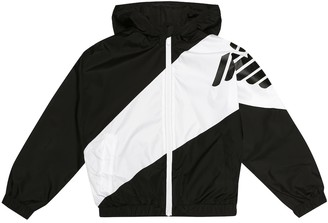 Emporio Armani Kids Logo hooded jacket