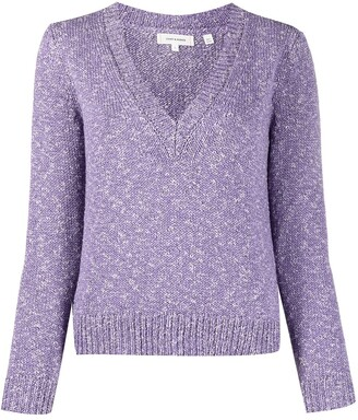 Chinti and Parker Speckled V-Neck Jumper