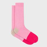 Paul Smith Men's Pink Colour Block Socks