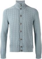 Zanone cable knit cardigan