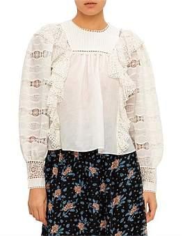 Ulla Johnson Victorian Wave Lace Lily L/S Blouse