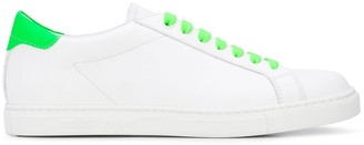 Emporio Armani Neon Detail Low-Top Sneakers