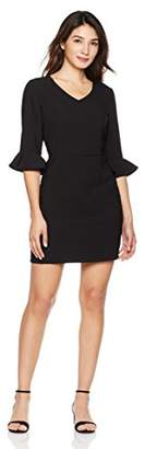 Suite Alice Women's Women's Flared Ruffle Sleeve Mini Dress