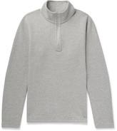 Reigning Champ Perforated Cotton-blend Half-zip Sweatshirt - Gray