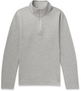 Reigning Champ Perforated Cotton-Blend Half-Zip Sweatshirt