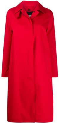 MACKINTOSH DUNKELD Red Bonded Cotton 3/4 Coat|LR-1001D