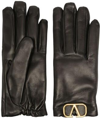 Valentino lambskin VLOGO applique gloves