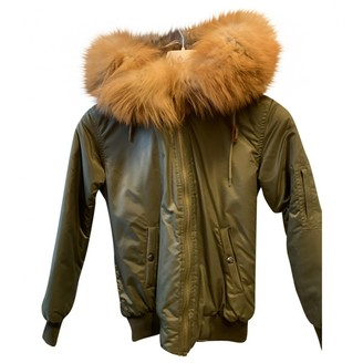 Ducie Khaki Leather Jacket for Women
