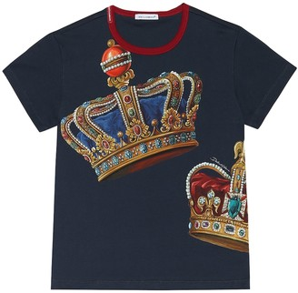 Dolce & Gabbana Kids Printed cotton T-shirt