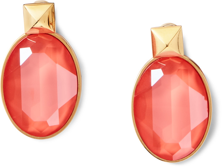 Ralph Lauren Oval Crystal Drop Earrings