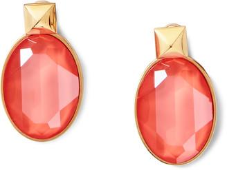 Ralph Lauren Oval Crystal Drop Earrings