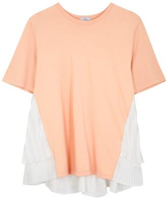 Clu Blush cotton-jersey T-shirt