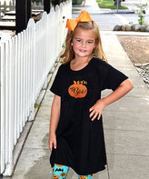 Beary Basics Black & Orange Pumpkin 'Boo' Tunic Dress - Toddler & Girls