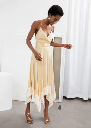 And other stories Duo Toned Handkerchief Midi Dress