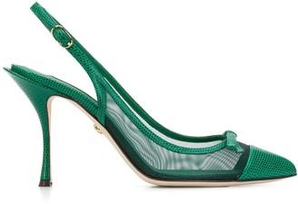 Dolce & Gabbana Mesh Slingback Pumps