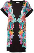 Tsumori Chisato floral print shift dress - women - Silk/Cotton/Nylon/Polyurethane - 3