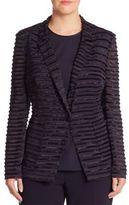 Basler, Plus Size Sheer Textured Jacket