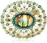 """Napier """"Classics"""" Boxed Gold-Tone and Green Oval Brooches and Pin"""
