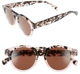 Komono Women's Clement 50Mm Round Sunglasses - Black Marble