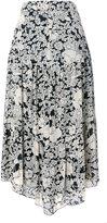 Saint Laurent floral print long skirt