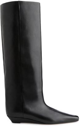 Arket Wide-Shaft Wedge Boots