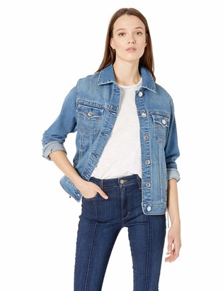 True Religion Women's Trucker Jacket W Lacing