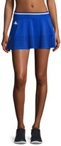 Stella McCartney Perforated-Trim Tennis Skirt, Blue/White