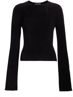 Frame Chenille Bell Sleeve Sweater