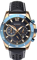 Sekonda 1489.27 Chronograph Date Leather Strap Watch, Navy