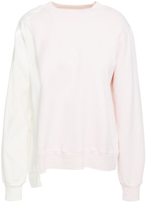 Clu Two-tone Stretch-twill And French Cotton-terry Sweatshirt