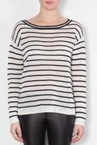 Alice + Olivia Pinstripe Boxy Sweater