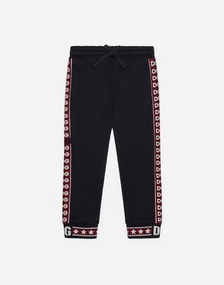 Dolce & Gabbana Jersey Jogging Pants With Jacquard Logo