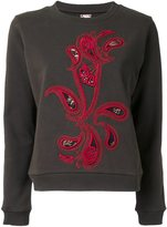 Antonio Marras paisley applique sweatshirt - women - Cotton - 1