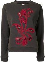 Antonio Marras paisley applique sweatshirt - women - Cotton - 1