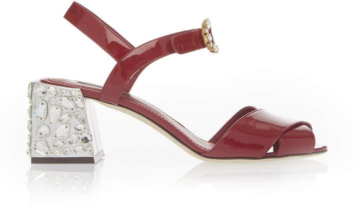 Dolce & Gabbana Embellished Heel Sandal