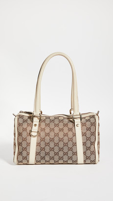 Shopbop Archive Gucci Abbey Mini Boston GG Canvas Bag
