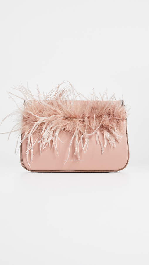Loeffler Randall Maisie Feather Hinge Pouch