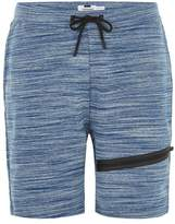 Topman Blue Space Dye Tech Shorts