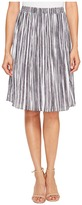 Ellen Tracy Smocked Waist Pleated Skirt Women's Skirt