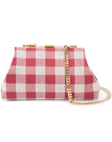 Mansur Gavriel checked chain strap clutch - women - Canvas - One Size