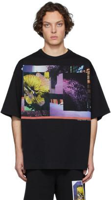 Dries Van Noten Black and Multicolor Mika Ninagawa Edition Print Half-Sleeve T-Shirt