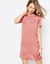 Asos Satin Front T-shirt Dress