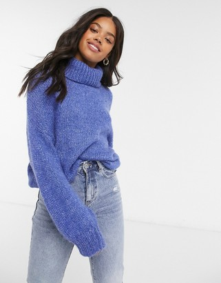 Cotton On Cotton:On roll neck knitted jumper in blue