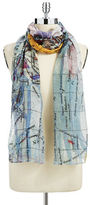 Lord & Taylor Map-Print Scarf