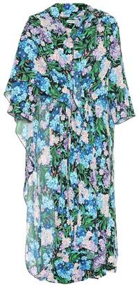 Balenciaga Floral-printed crepe dress