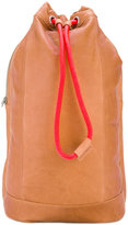 Diesel signatured backpack - men - Calf Leather/Cotton - One Size