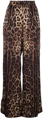 Dolce & Gabbana Leopard Print Track Trousers