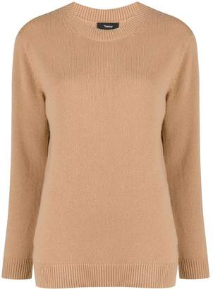 Theory ribbed detail crew neck sweater